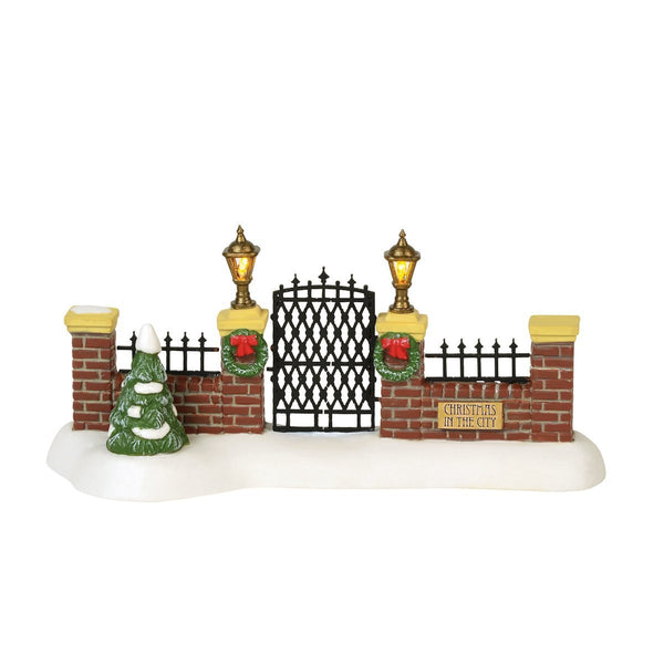 Department 56 Christmas in the City Village Gate
