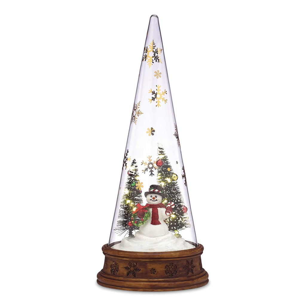 Lenox Merry and Magic Lit Glass Snowman Scene