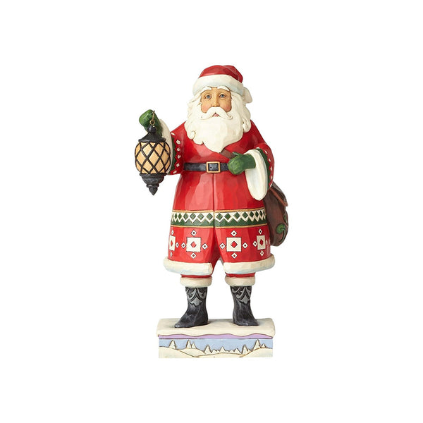Enesco Jim Shore Heartwood Creek Santa with Lantern and Satchel