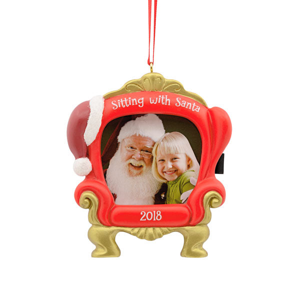 Hallmark Sitting with Santa Photo Holder Dated Ornament