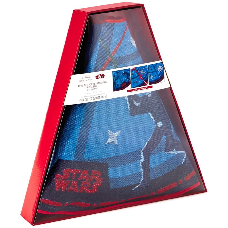 Hallmark Keepsake 2018 Star Wars™ The Force Is Strong Tree Skirt With Light