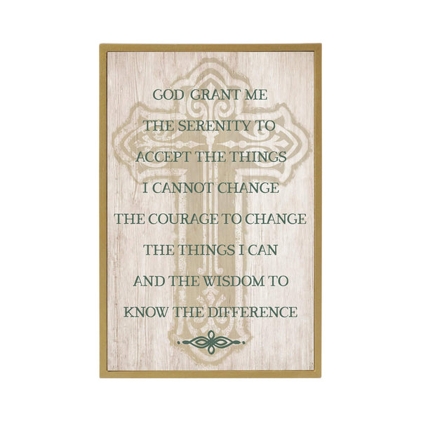 Grasslands Road Serenity Prayer Plaque - - Irish Home Décor - Irish Gifts - Hanging Wall Décor - St Patrick's Day Decorations, MDF, 12 by 8 Inches