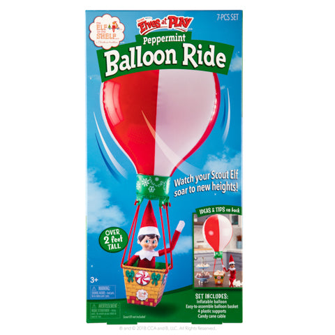 Elf on The Shelf Peppermint Balloon Ride