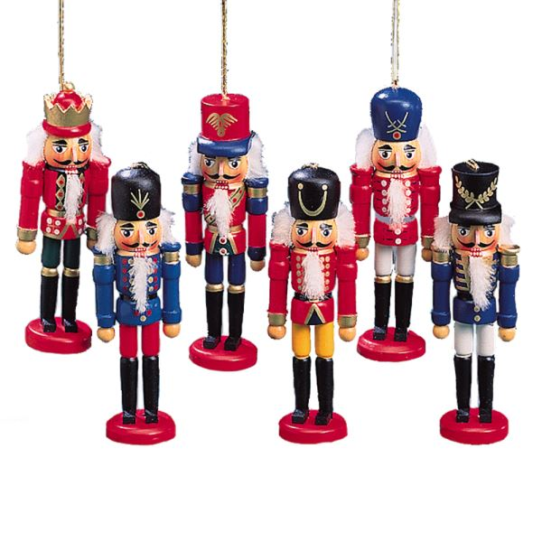 "Kurt Adler 5"" Wooden Nutcracker Hanging Ornament, One Random Design"