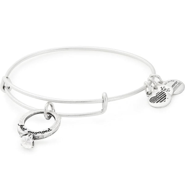 Alex and Ani Just Engaged Charm Bangle, Silver