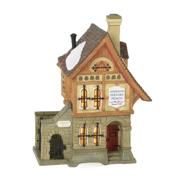 Department 56 Dickens Village Marshalsea Debtors' Prison Lighted Building