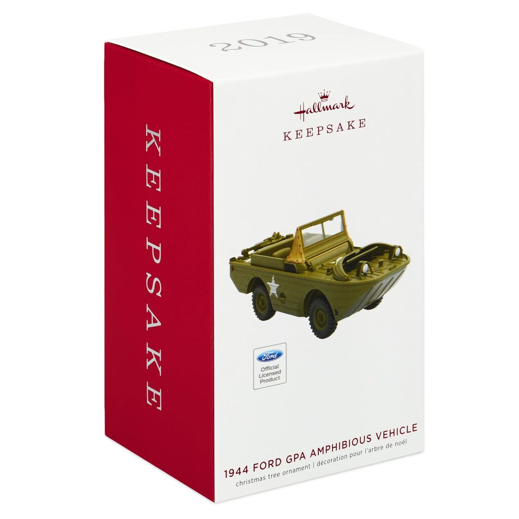 Hallmark Keepsake 2019 Ford 1944 GPA Amphibious Vehicle Metal Ornament