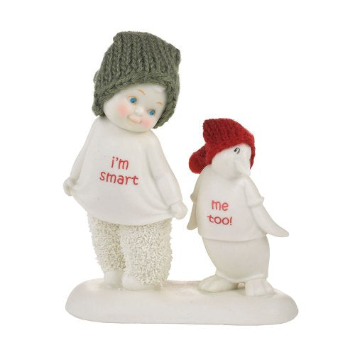 Department 56 Snowbabies Classics I'm Smart, Me Too Figurine, 4.33-Inch