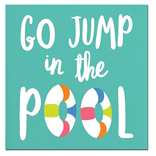 "Slant ""Go Jump in the Pool"" Beverage Paper Napkins 20 ct"
