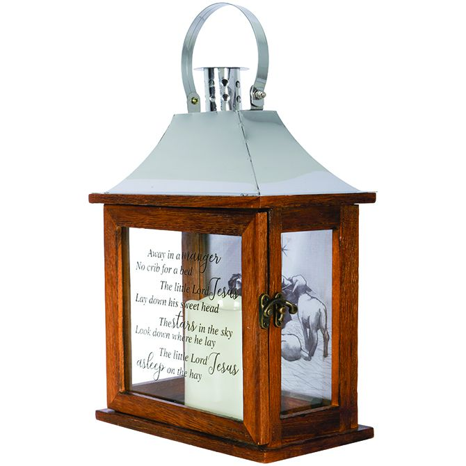 "Carson  Carson """"Away In A Manger"" Decorative Lantern"