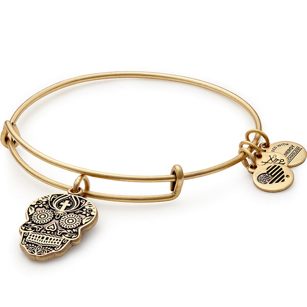 Alex and Ani Calavera Charm Bangle, Rose Gold