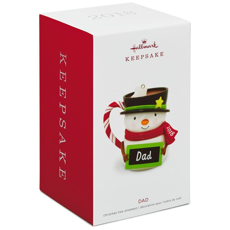 Hallmark Keepsake 2018 Dad Snowman Mug Ornament