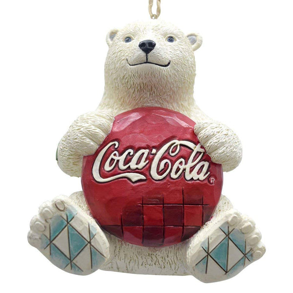Coca-Cola  Coca-Cola Enesco by Jim Shore 4059722 Coke Polar Bear with Coke Logo Hanging Ornament