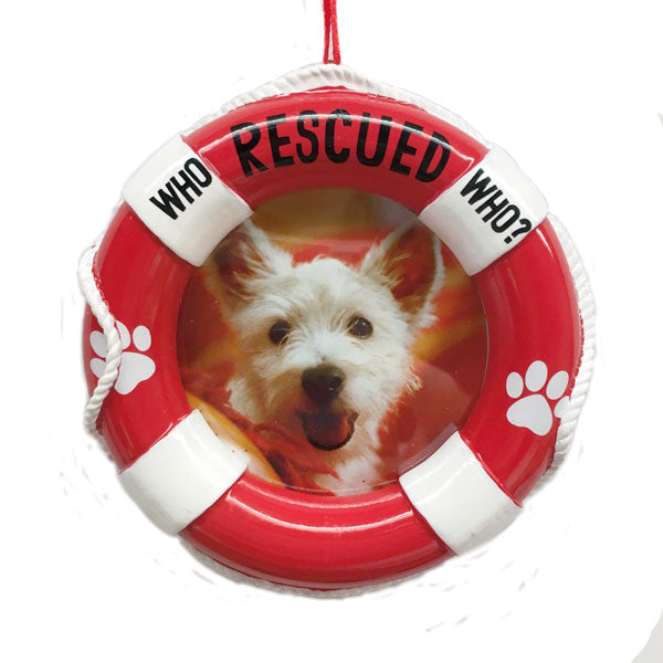 Hallmark Rescue Dog Photo Holder Ornament
