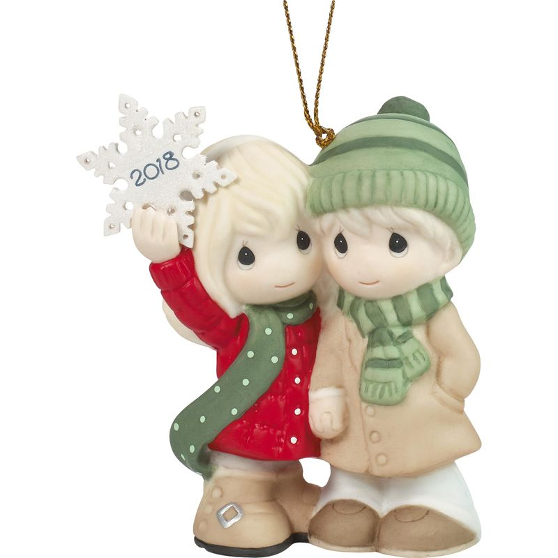 Precious Moments Our First Christmas Together 2018 Dated Porcelain Ornament