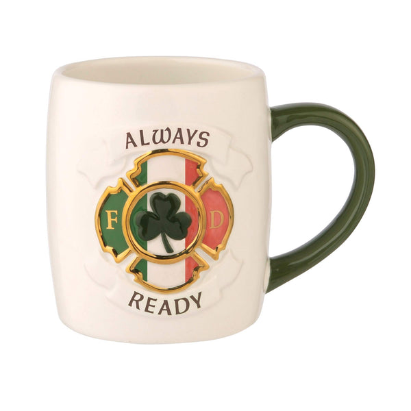 Grasslands Road Always Ready Firefighter Mug - Mug Celtics - Celtic Mug - Celtics Mug, 16 Ounces Coffee Mug Tea Cup, Ceramic, Special Gift Packing