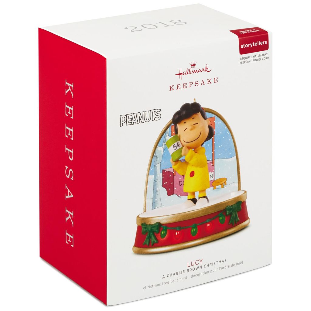 Hallmark Keepsake 2018 A Charlie Brown Christmas Lucy Ornament With Sound and Light