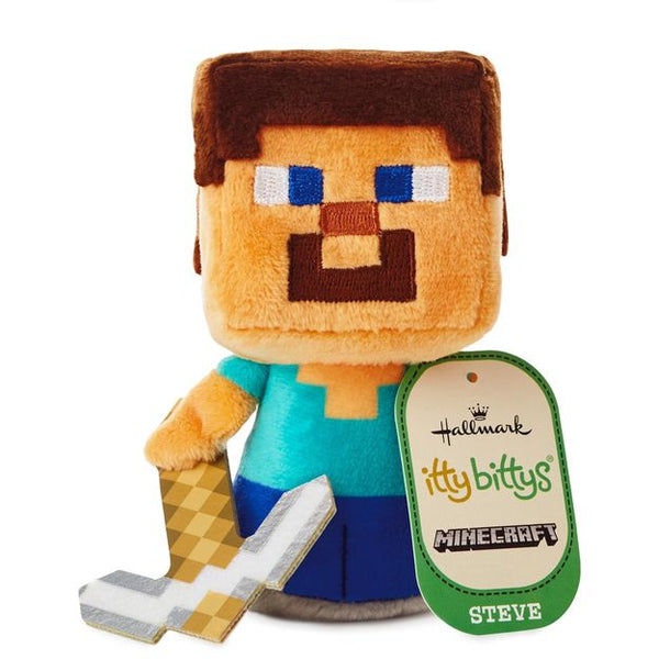 Hallmark itty bittys® Minecraft Steve Stuffed Animal
