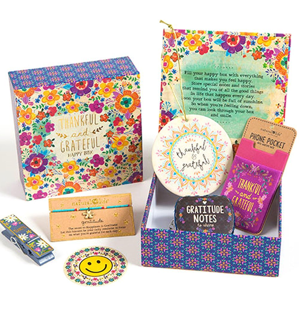Natural Life Gift Set Small Floral Happy Box Thankful & Grateful