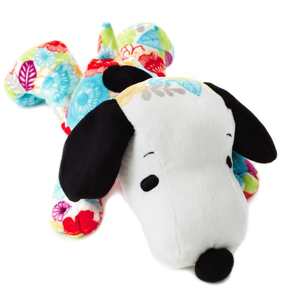 Hallmark Peanuts® Flower Print Floppy Snoopy Stuffed Animal, 10.5""