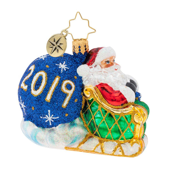 Christopher Radko 2019 No Looking Back Gem Christmas Ornament