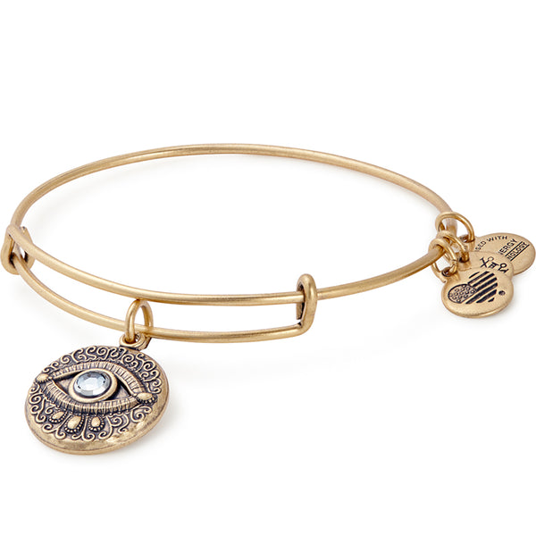 Alex and Ani Evil Eye Charm Bangle Gold
