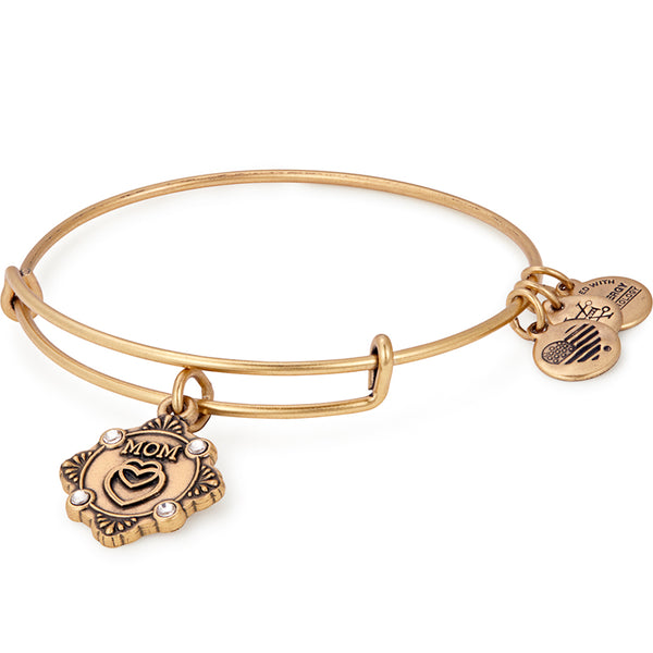 Alex and Ani Mom Because I Love You Charm Bangle RAFAELIAN GOLD
