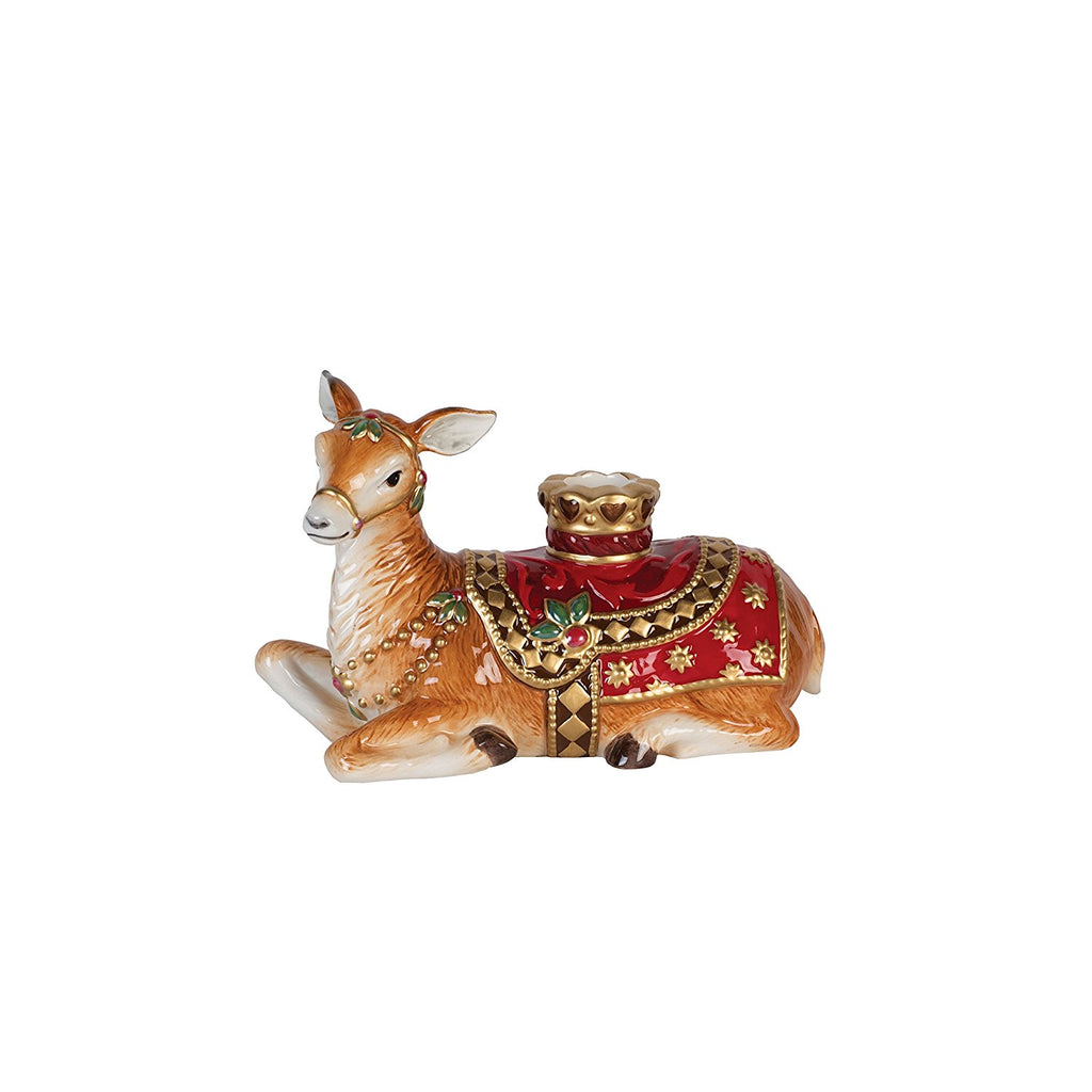Fitz and Floyd Renaissance Holiday Resting Deer Candleholder