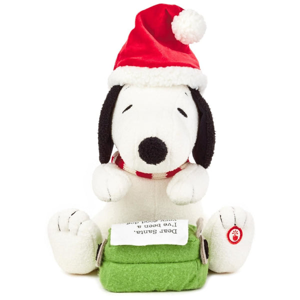 Hallmark Peanuts Snoopy's Letter to Santa Stuffed Animal With Sound and Motion Interactive