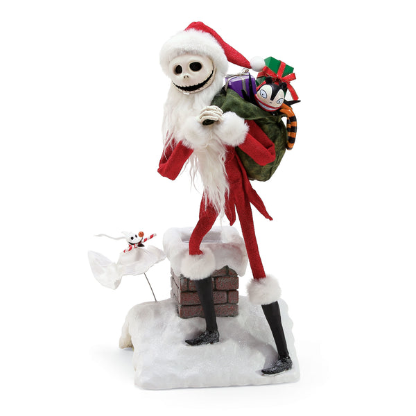 Department 56 Nightmare Before Christmas Jack and Zero Deliveries Figurine, 15""