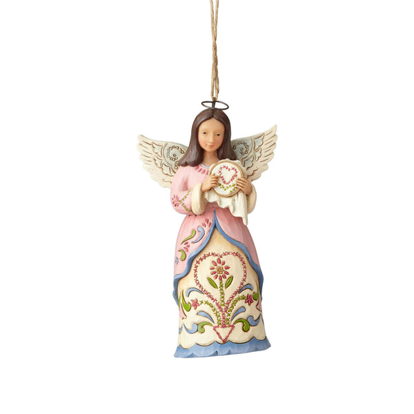 Department56  Jim Shore Heartwood Creek Sewing Angel Ornament