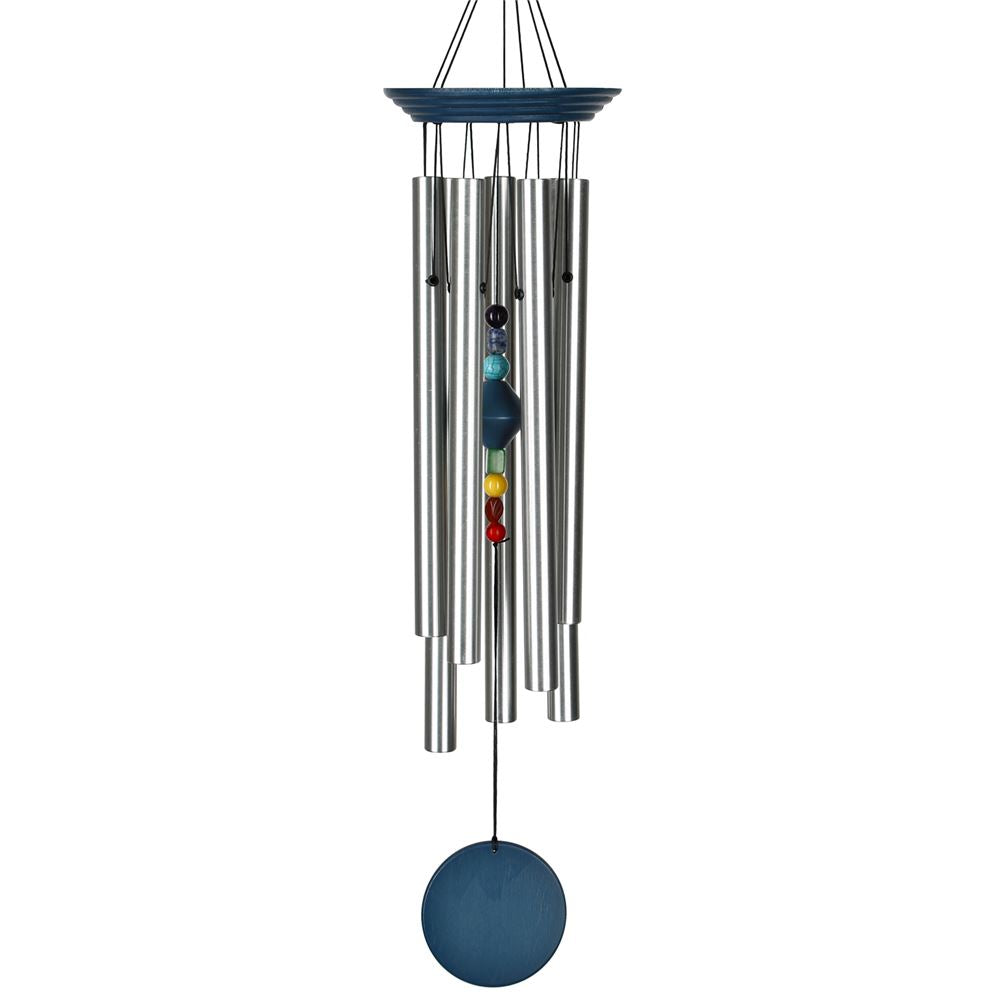 Woodstock Chimes Chakra Chime, Seven Stones- Eastern Energies Collection, 17.5""