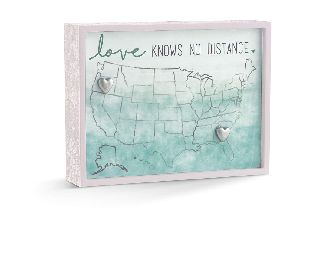 Grasslands Road Love Knows No Distance Magnet Plaque