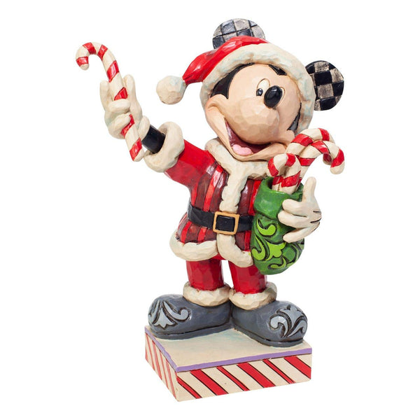Enesco Disney Traditions By Jim Shore Santa Mickey with Candy Canes Figurine