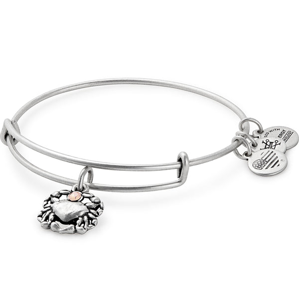 Alex and Ani Crab Charm Bangle, Silver