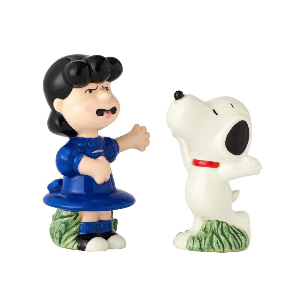 Enesco Licensed Ceramics Peanuts Snoopy and Lucy Salt and Pepper Shakers, 2.5""