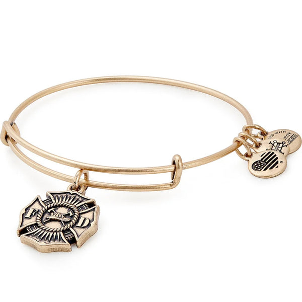 Alex and Ani Firefighter Charm Bangle, Gold