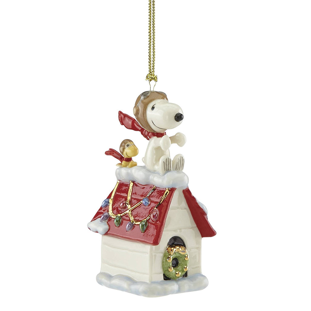 Lenox China Ornaments Snoopy The Flying Ace