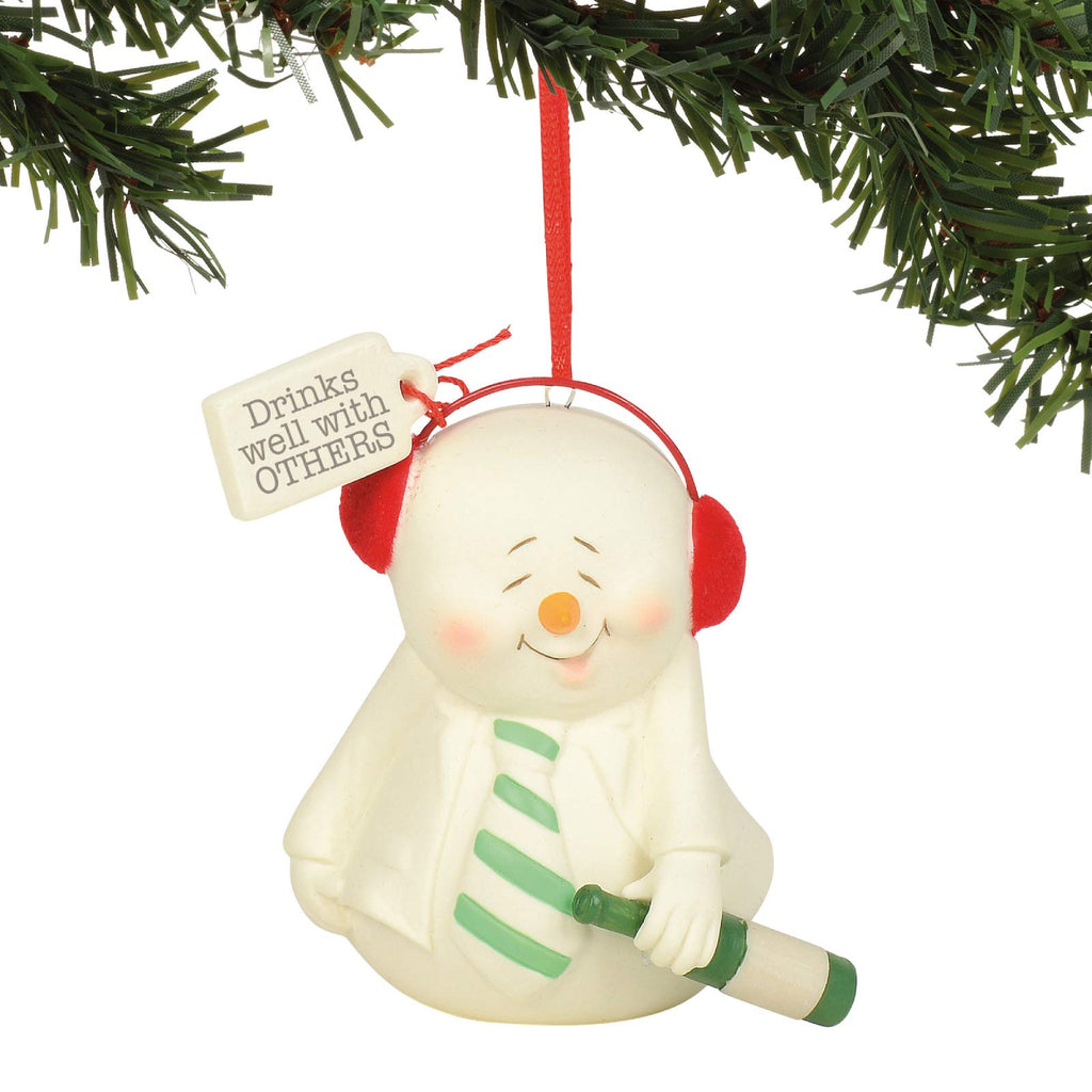 "Department 56 Snowpinions Drinks Well with Others Hanging Ornament, 3"", Multicolor"