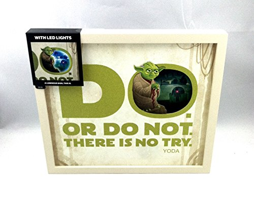 "Hallmark YODA "" THERE IS NO TRY "" FRAME WITH LED LIGHTS"