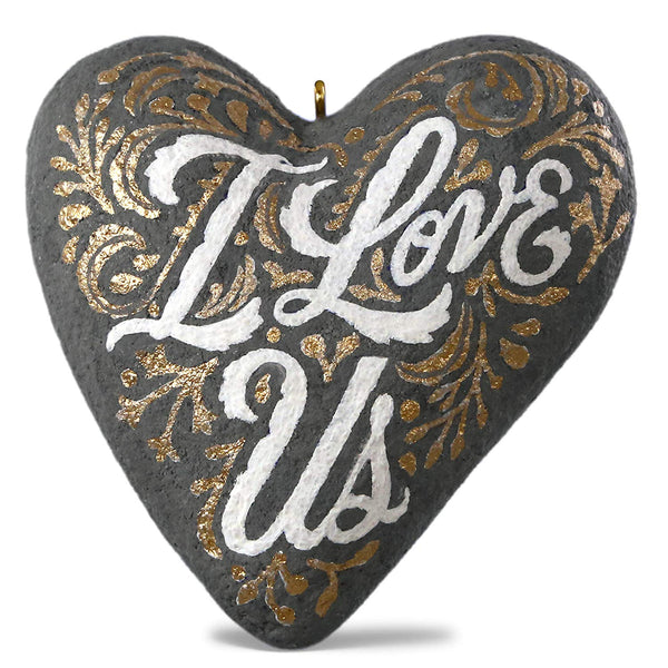 Hallmark Keepsake 2019 I Love Us Heart Concrete Ornament