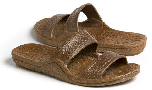 Pali Hawaii Model PH-0405 Classic Brown Jandal®, Unisex Size 8