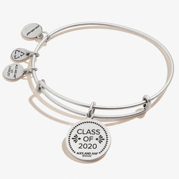 Alex and Ani Class of 2020 Charm Bangle RAFEALIAN SILVER