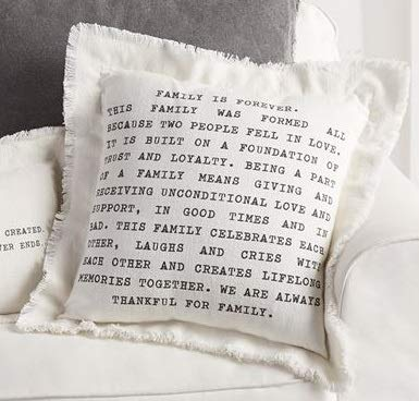 "Mud Pie Family Frayed Cotton Pillow 20"" X 20"""