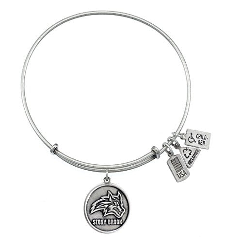 Stony Brook Sea Charm Bangle Bracelet Silver for Women By Wind and Fire