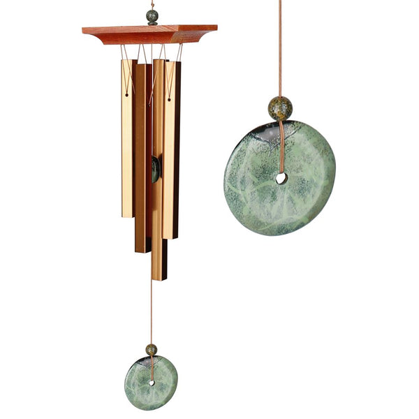 Woodstock Chimes Turquoise Chime - Eastern Energies Collection, 21""