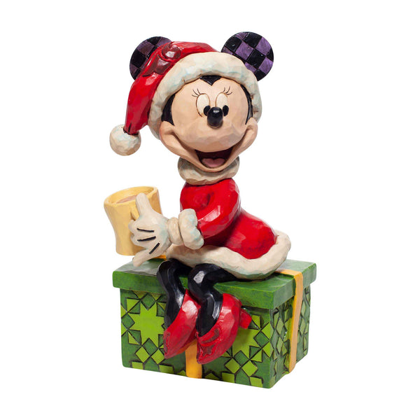 Enesco Disney Traditions By Jim Shore Santa Minnie with Hot Chocolate Figurine