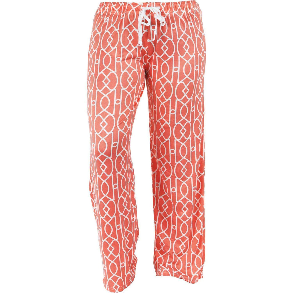 Hello Mello Trendy Womens Loungewear Pants with Luxurious Soft Fabric and Adjustable Elastic Waistband - Calming Coral (Medium/Large)