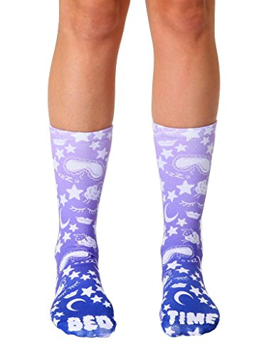 Living Royal Photo Sublimation Crew Socks (Bedtime)