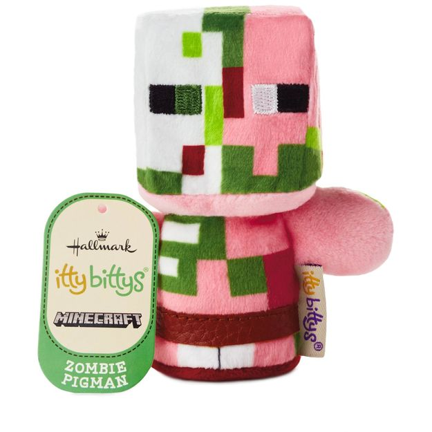 Hallmark itty bittys® Minecraft Zombie Pigman Stuffed Animal